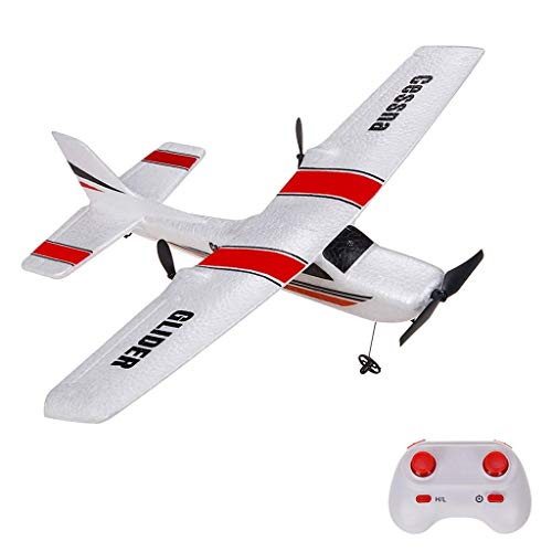 Remote Control Airplane, 2.4Ghz 2 Channel RC Plane Ready to Fly,350mm Wingspan Glider Airplane Plane Fixed Wing Durable EPP Foam Built-in 3-Axis Gyro, Easy to Fly RC Aircraft for Beginners and Kids