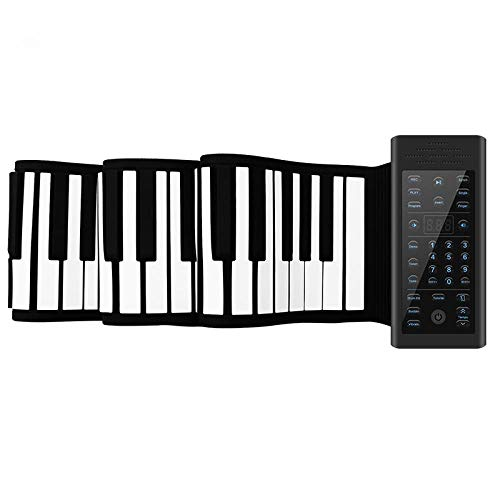 Best Review Of FJFJFJ 61/88 Keys MIDI Roll up Piano Silicone Electronic Keyboard Piano Flexible Prof...