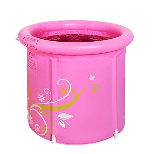 ZHYXJ-Bathtub Faltbadewanne füR Erwachsene Aufblasbare Badewanne Mit Dicker Kunststoffwanne Tragbares Reisebadezimmer Kleines Badezimmer Pink