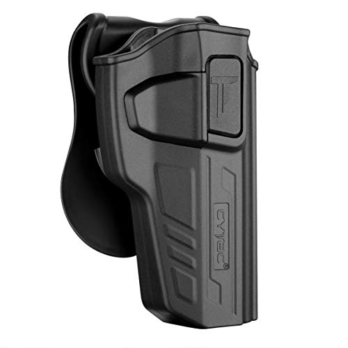 Polymer OWB Holster Fit Beretta 92 92FS 92G 92X 92S / GSG92 / Girsan Regard MC | UNFIT M9 Brigadier Performance - Index Finger Released | Adjustable Cant | Autolock | Outside Waistband - Right Handed