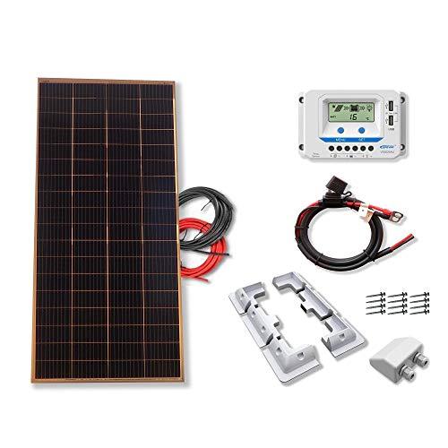 Kit 200W CAMPER 12V panel solar placa monocristalina células PERC de alta eficiencia