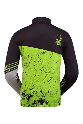 Spyder Herren Mandate Zip T-Neck - Pullover Langarm Active Shirt, Herren, Mandate Zip T-Neck, Schwarzes Mojito, X-Large