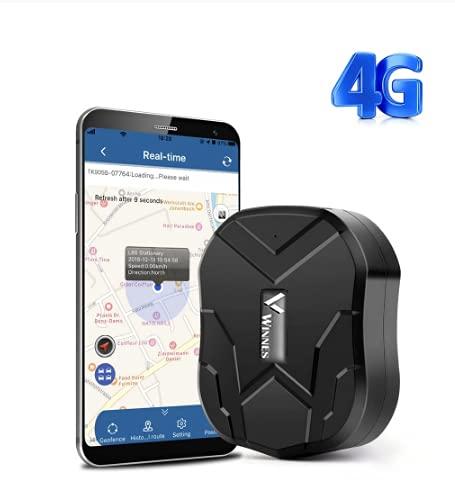 Winnes Localizador GPS 4G TK905, 5000mAh Resistente al Agua IP58 con Plataforma App/PC Gratuita, sin Coche ABO, localizador de Seguimiento en Tiempo Real Anti-perdida de Motocicleta.