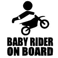LIUXUMG ボード上のベビーライダー 車のステッカー赤ちゃんの安全警告車のステッカー警告車の後部窓車のステッカー(2本)20cmx14cm (Color : Black)