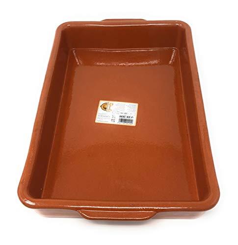 Cazuela, traditionell, eckig, braun 38x26 cm