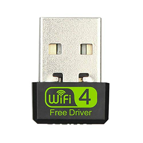 Mogzank USB 150Mbps Adaptador InaláMbrico Unidad Libre Tarjeta de Red 802.11Acbgn 2.4GHz para Computadora de Escritorio PortáTil