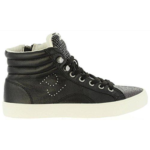 Pepe Jeans London Damen Clinton MESH Hohe Sneaker, Schwarz (Black), 36 EU