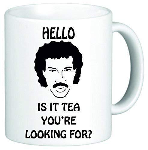 Hello is It Tea Your Looking for Funny Novelty Mug White Ceramic Coffee Mug