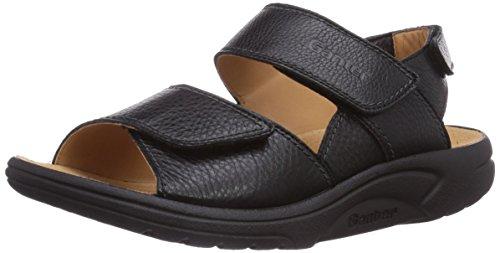 Ganter AKTIV FABIA Weite F Damen Sandalen, Schwarz (schwarz 0100), 42 EU (8 UK)