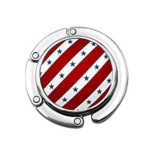 Geldbörse Kleiderbügel Blau Zusammenfassung Rot Weiß Gestreifte Sterne Webmuster Amerika Amerikanische Diagonale Flache Fliese Handtaschenhaken