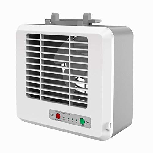 Elektrolüfter Tragbare Mini-Mum Haushaltsenergie Preservation Desktop-Klimaanlagen-Ventilator elektrischer Luftkühler (weiß) Asun USB-Ventilator (Color : White)