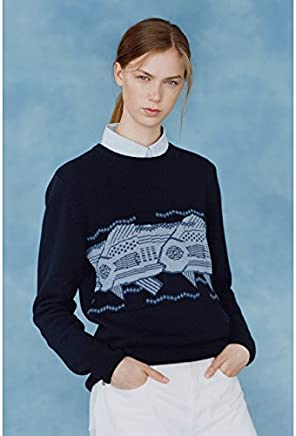 Xuanku Women'S Jacquard LongSleeved RoundNeck Collar Kit And Knitwear Forming The Netherlands Sweater 2974 Sau San