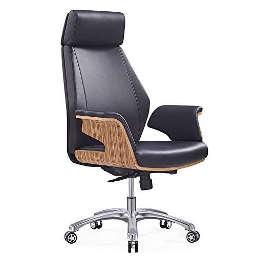 JBVG Las sillas de Escritorio Ministerio del Interior de Piel Silla de Oficina con Respaldo Alto Sil