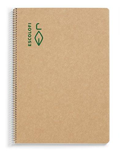 Escolofi 130047000 - Cuaderno con espiral de papel reciclado