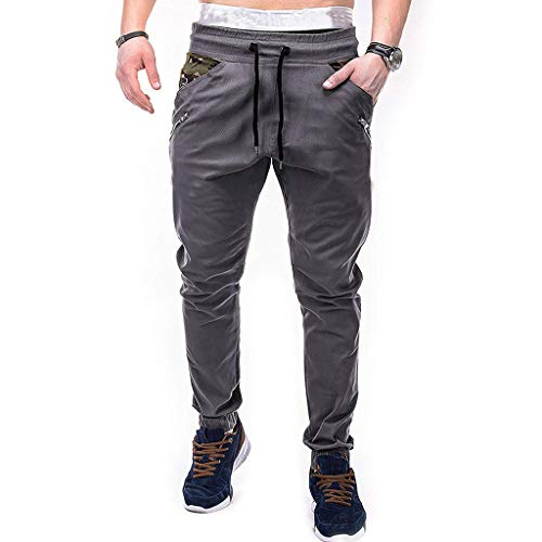 manadlian Cargo Long Pants Camouflage Sweatpants en Drawstring Pantalon de Sport Taille Haute Jean Droit Homme Grande Taille Casual Crayon Pantalons Pants
