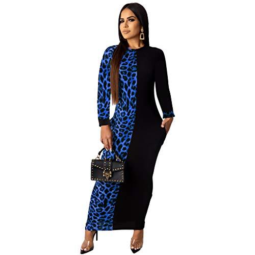 Dress for Women Elegant Long Sleeve – Stretchy African Floral Bodycon Midi Dress