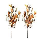 HEALLILY Tallos de algodón selecciones de algodón Artificial Flores secas Ramas Corona de Navidad...