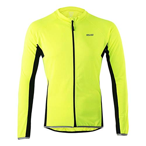 Veste D'équitation De Vélo Coupe-Vent pour Hommes Et Femmes Printemps, été Et Automne, Vestes De Vélo à Manches Longues Respirantes Et à Séchage Rapide (Vert,XL)