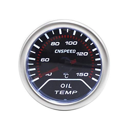 """Dhmm123 Digital 2\""""(52mm) Auto Öltemperaturanzeige 40-150C Rauch Len Weißlicht Öltemperaturanzeige Meter Mit Sensor Spezifisch"""