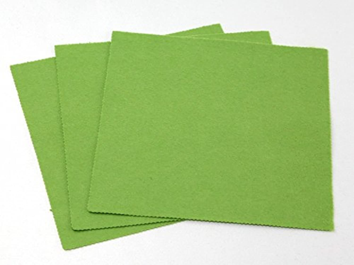Plain Acrylic Felt Fabric 18  Square Spring Green  per pack of 50