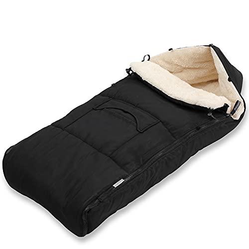 Monzana Saco para bebé Negro 93x56cm Saco de dormir multiuso Manta para cochecito asiento portabebés
