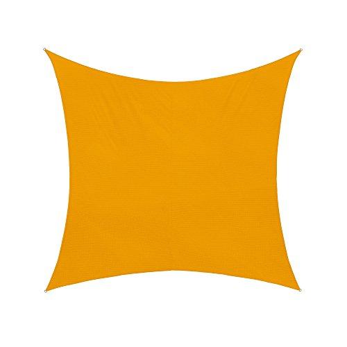 jarolift Sonnensegel Quadrat wasserabweisend, 300 x 300 cm, gelb