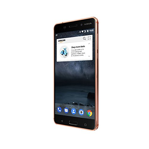 Nokia 6 - 32 GB - Unlocked (AT&T/T-Mobile) - Copper - Prime Exclusive - with Lockscreen Offers & Ads