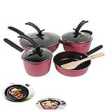 Xinyexinwang Set de 4 sartenes con Antiadherente,incluida inducción y vitrocerámica,para Todo Tipo de cocinas