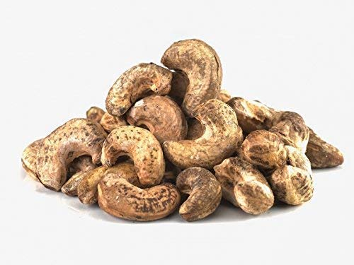 Anacardos orgánicos crudos con piel Fairtrade 1 kg de comercio justo, Bio, ecológicos, de grano entero, con testa, sin pelar, natural, sabor agrio, de Sri Lanka 1000g