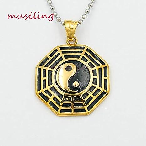 Golden Vesna 316L Stainless Steel Chakra Pendants Necklace Chain Pendulum Fashion Accessories Reiki Charms Amulet Men Jewelry 1pcs
