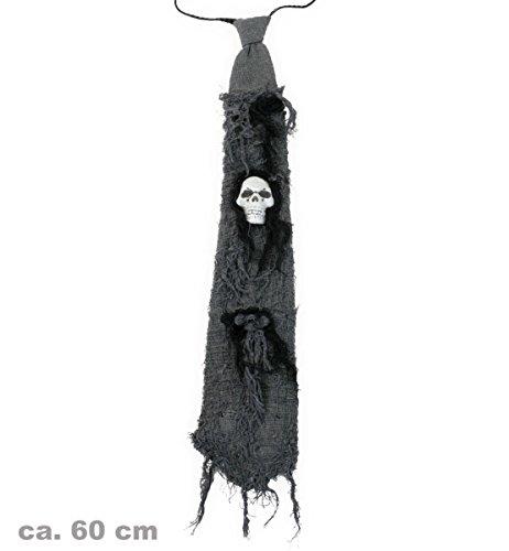 FASCHING 56702 Halloween-Krawatte schwarz Totenkopf NEU/OVP