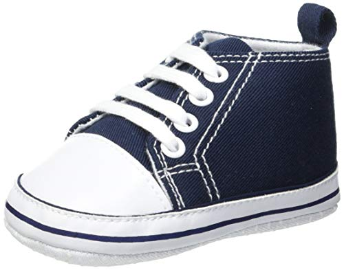 Playshoes Baby Canvas-Turnschuhe, Blau (marine 11) 19