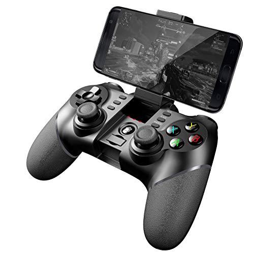 ZUZU Manette de Jeu sans Fil, Manette de Jeu sans Fil pour contrôleur, contrôleur de Jeu sans Fil Bluetooth / 2,4 G Multifonctionnel pour Android/Windows PC / PS3,2pack