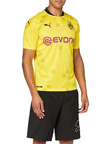 PUMA Herren BVB Cup Shirt Replica SS with Evonik w/o Opel T, Cyber Yellow Black, M