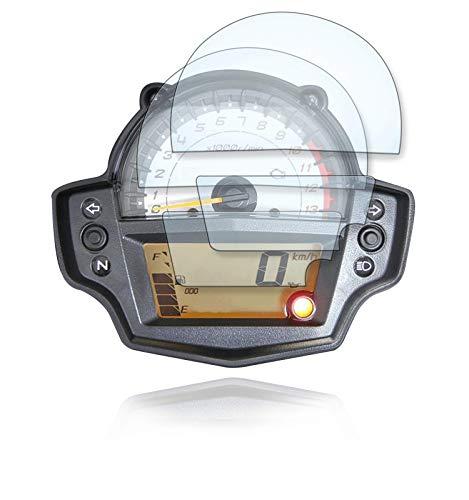 [2 Stück] Displayschutzfolie Tacho Schutzfolie geeignet für Kawasaki Versys 650 1x Ultra Clear / 1x Anti Glare