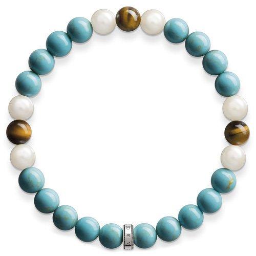 Thomas Sabo Damen-Armreifen Künstliche Perle A1559-937-17-L15,5