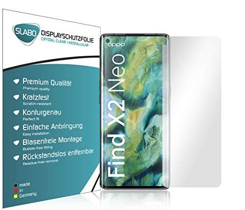 Slabo 4 x Bildschirmschutzfolie für Oppo Find X2 Neo Bildschirmfolie Schutzfolie Folie Zubehör Crystal Clear KLAR