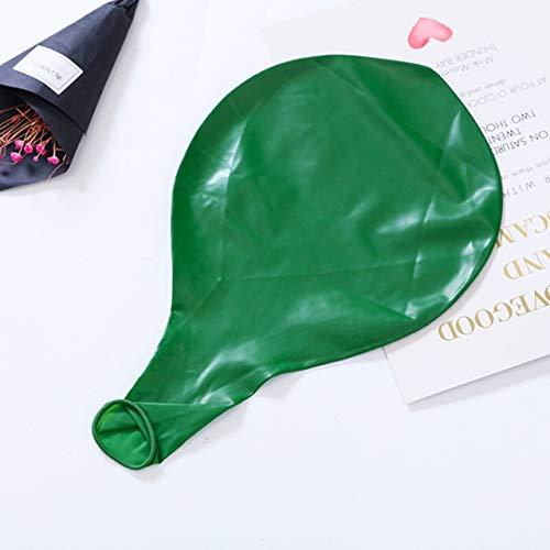 WEIHONG Ballon Air Ballon Latex Transparent 36 Pouces Décoration De Mariage Hélium Ballons Géants Anniversaire Fête D'anniversaire Décor Gonflable Ballon D'air (Vert) WEIHONG (Color : Green)