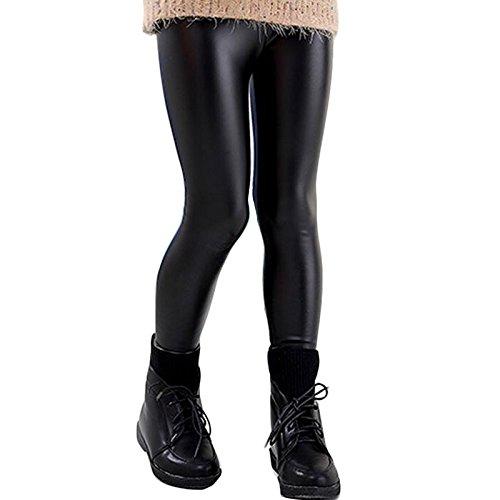 Toocool - Leggings Bambina Ragazza Pantaloni Effetto Pelle Liquid Fuseaux Nuovi 816 [14 Anni,Nero]