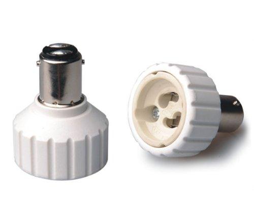 1 Stück B15 B15D / BA15D Adapter auf GU10 Sockel Converter für Halogen und LED Stiftsockel