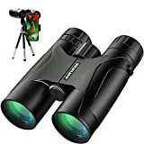 12X42 Powerful Binoculars, High Power HD Binocular for Adults with Smartphone Holder & Tripod, Waterproof Binoculars with Durable and Clear FMC BAK4 Prism Binoculars for Bird Watching, Camping, Hiking
