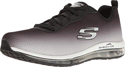 Skechers Sport Women's Skech Air Element Fashion Sneaker,Black/White,8 M US