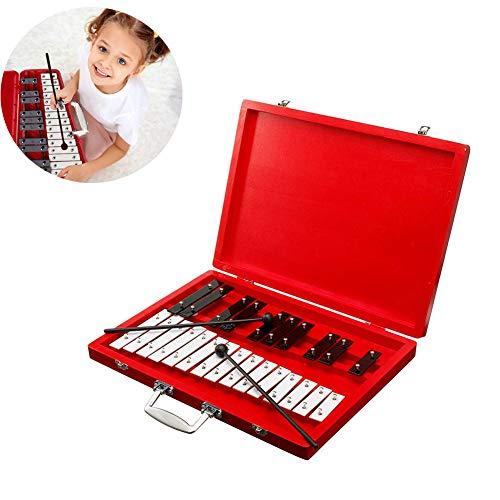 N / A Professionelle Xylophon-Instrumente, einschließlich 2 Kunststoffschlägel, umweltfreundlich und schön, langlebig und stabil, einfach zu lagern