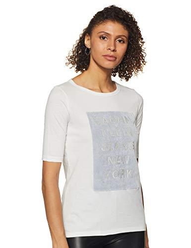 Calvin Klein Jeans Women's Abstract Print T-Shirt (J200353_Jet Stream_Small)