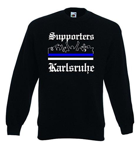 World-of-Shirt Herren Sweatshirt Karlsruhe Ultras Supporters|XXL