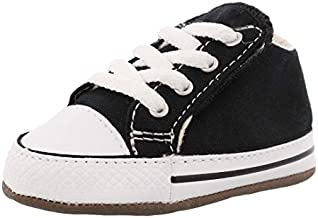 Converse Baby-Boy's Chuck Taylor All Star Cribster Canvas Color Sneaker, Black/Natural Ivory/White, 2 M US Infant