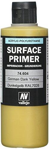Vallejo - Apprêt pour maquette - 200 ml - Polyuréthane - Coloré German Dark Yellow