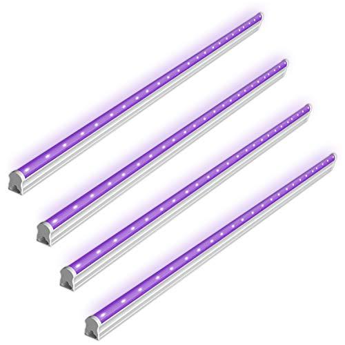 BRTLX UV Schwarzlicht Lamp,6W USB Tragbare UV LED Beleuchtung für DJ Parties, Clubs, Halloween, Idealer Lichteffekt und Angenehme Atmosphäre(DC 5V) 4er Pack