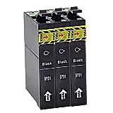 AZXC Reemplazo de Cartucho de Tinta Compatible para EPSON T0731 Trabajo para T0732 T0733 CX8300 CX6900F CX9300F C110 CX5900 3905 CX5900 3905 4900 5500 Impresora, Toner TR 3black