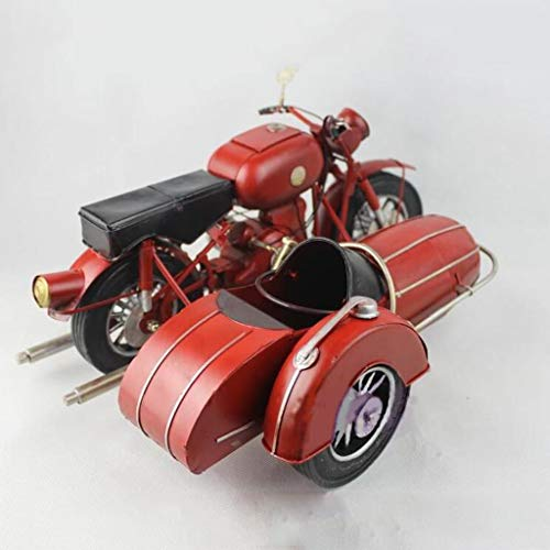 CKH Retro decoratieve ornamenten metaal oldtimer model Shop Display Rekwisieten emmer driewieler motorfiets decoratie